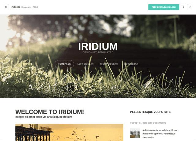 Templated 免费下载 CSS 和 HTML5 网站模板、布景主题设计